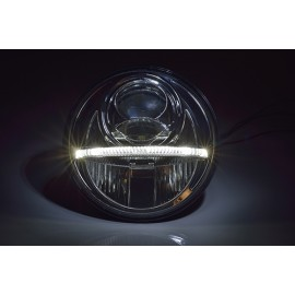 "7"" Nolden LED forlygte Black m. positionslys"